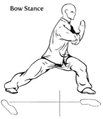 Kung fu stance bowing