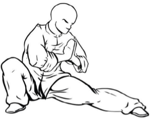 Kung fu monk position